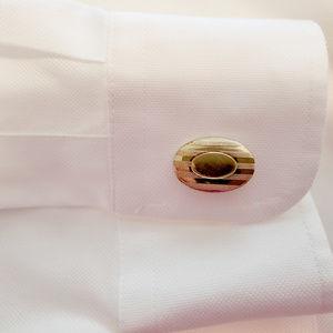 Retro GoRetro Gold Tone Oval Cuff Links - Guy Gift